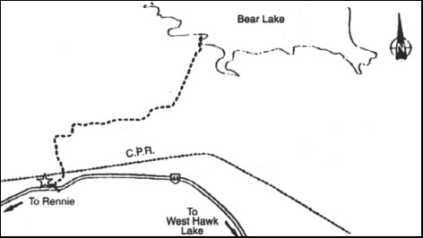 Bear Lake Hiking Trail  Map